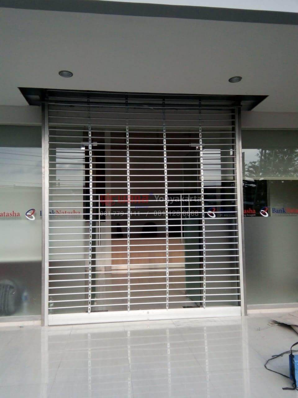 aluminium rolling security grilles rochester