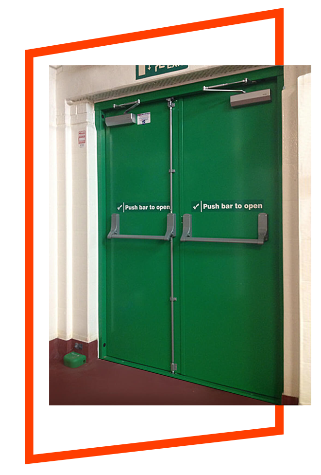 green fire rated doors rochester