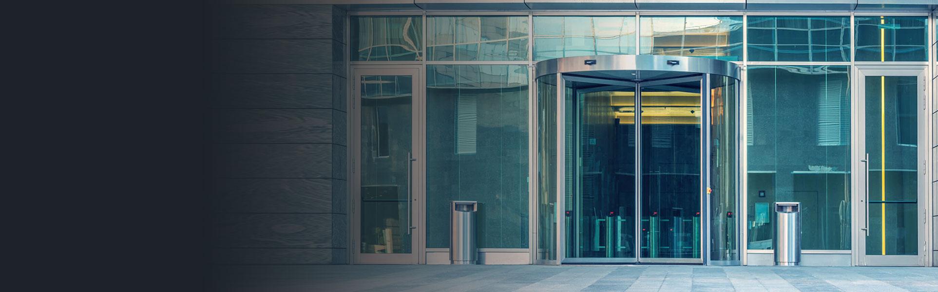 glass storefront door